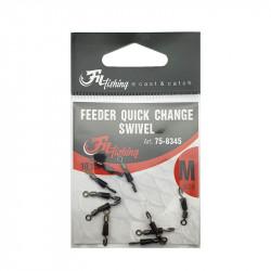 Feeder Quick Change Swivel par 10 Filfishing