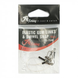 Elastic Gum Links Swivel Snap 10 Cm par 2