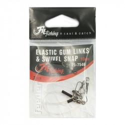 Elastische Gum Links Draaibare Snap 10 cm bij 2