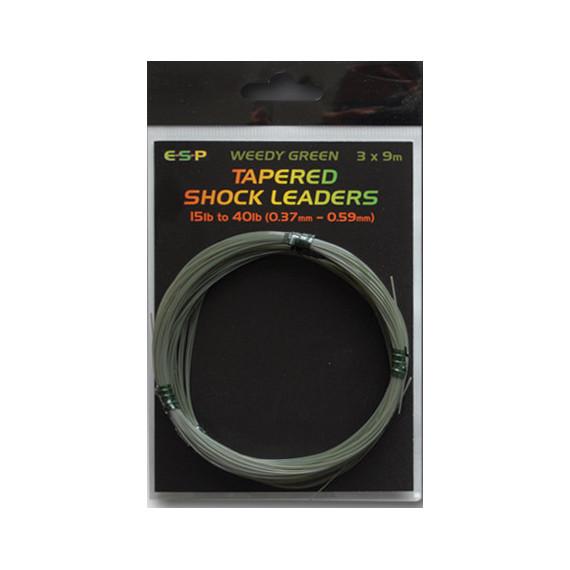 Tapered Shock leaders 9m. 0.37 / 0.59mm Esp