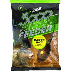 Groundbait 3000 Methode Karper Pittig 1kg Sensas