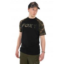 T-shirt Zwart / Camo Vos