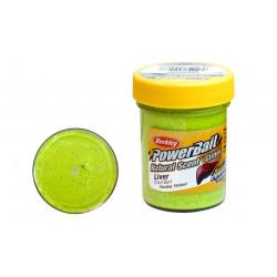 Berkley Chartreuse liver glitter trout paste
