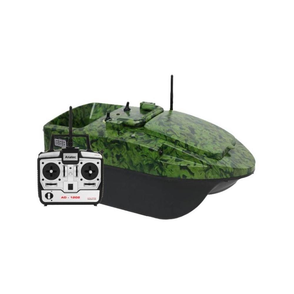 Anatec pacboat startr Evo Camou Forest bait boat + DE104 remote control 1