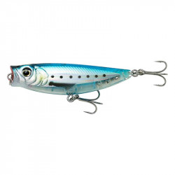 Leurre 3d Minnow Popwalker 5.5cm 6g Floating Ghost sardine Savage