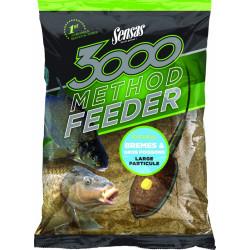 Groundbait 3000 Method Brasem en grote Vis 1kg Sensas