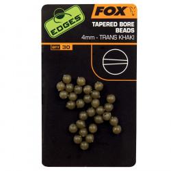 Randen 4mm conische boring kraaltjes 4mm vos