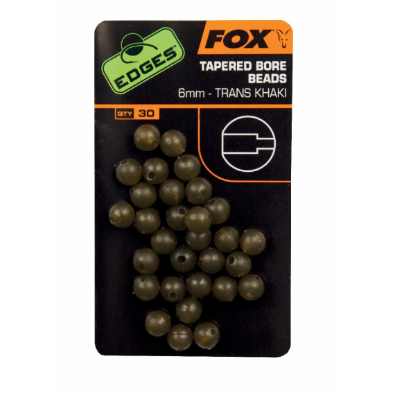 Edges Tapered Bore Beads 6mm Fox