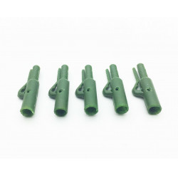 5 mega Euro safety clips Olive Green Dk Tackle