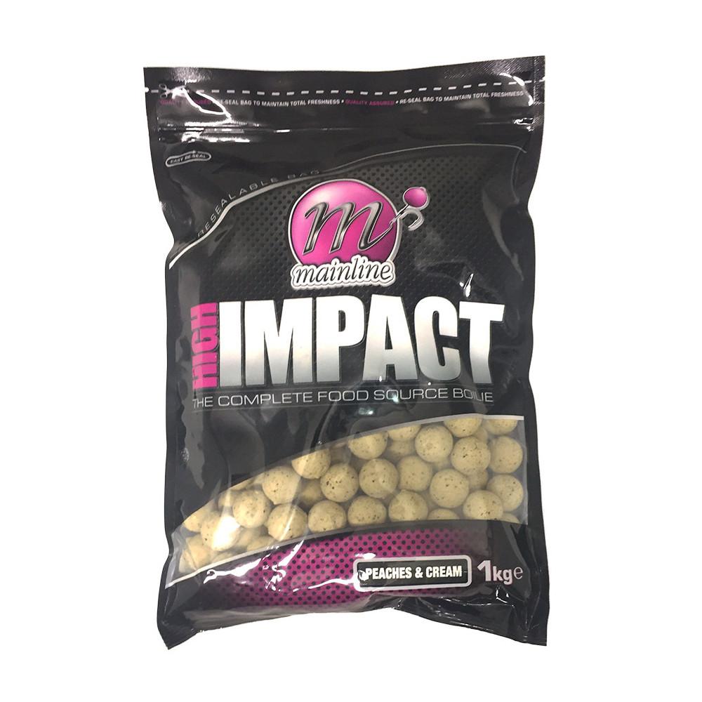 1kg High Impact Boilies perziken Cream Mainline 1