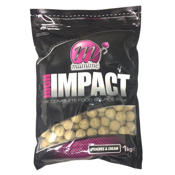 1kg High Impact Boilies peaches & Cream Mainline