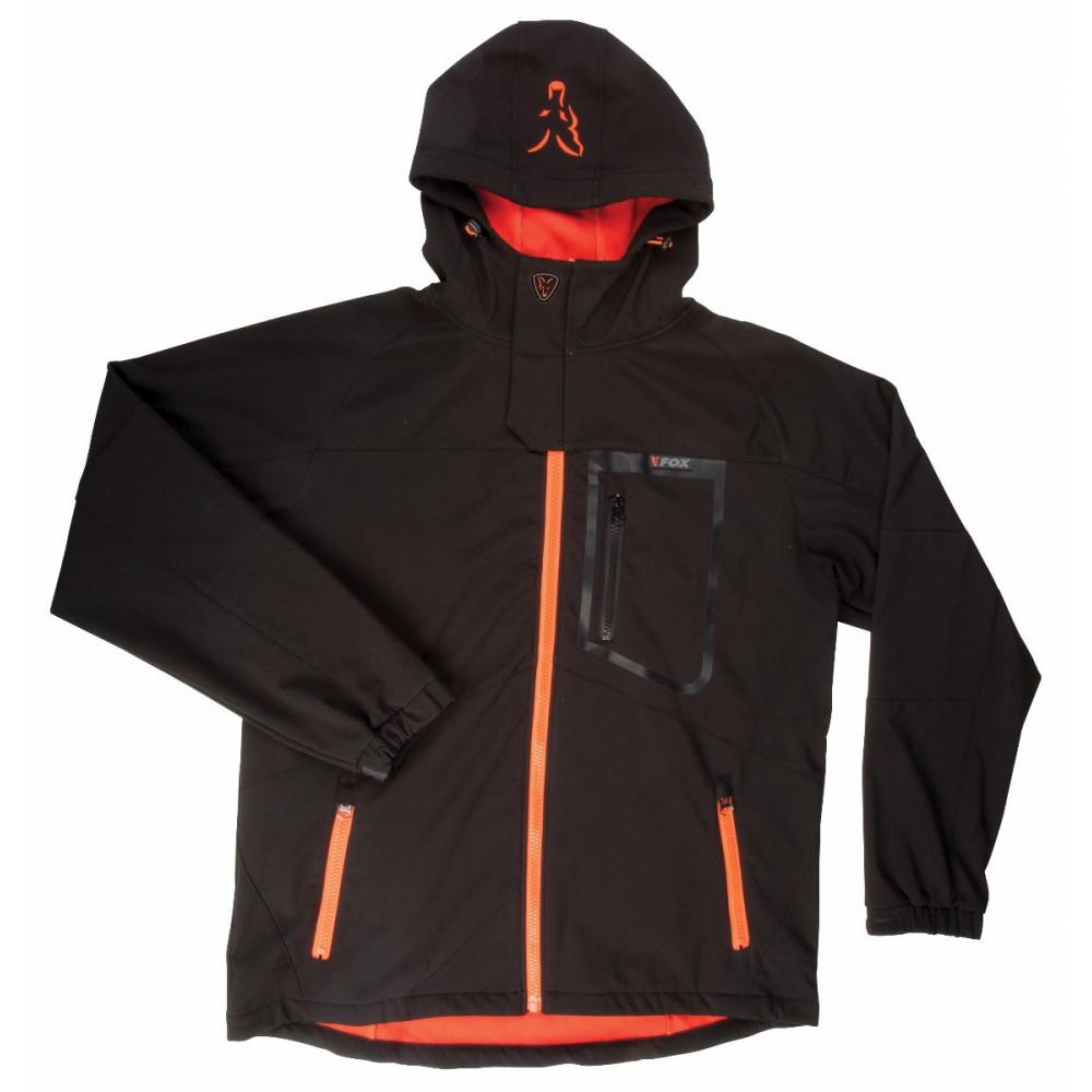 Zwart / oranje softshelljack - Vos 6