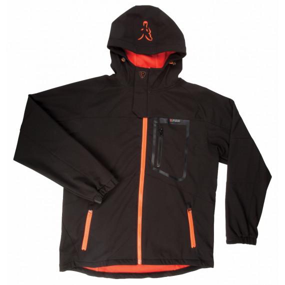 Zwart / oranje softshelljack - Vos