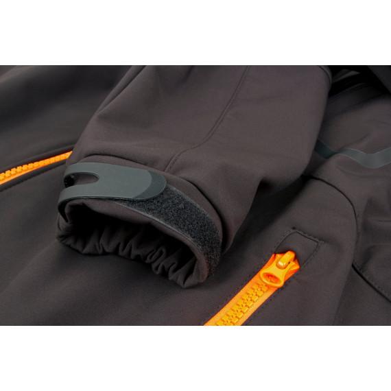 Zwart / oranje softshelljack - Vos 1