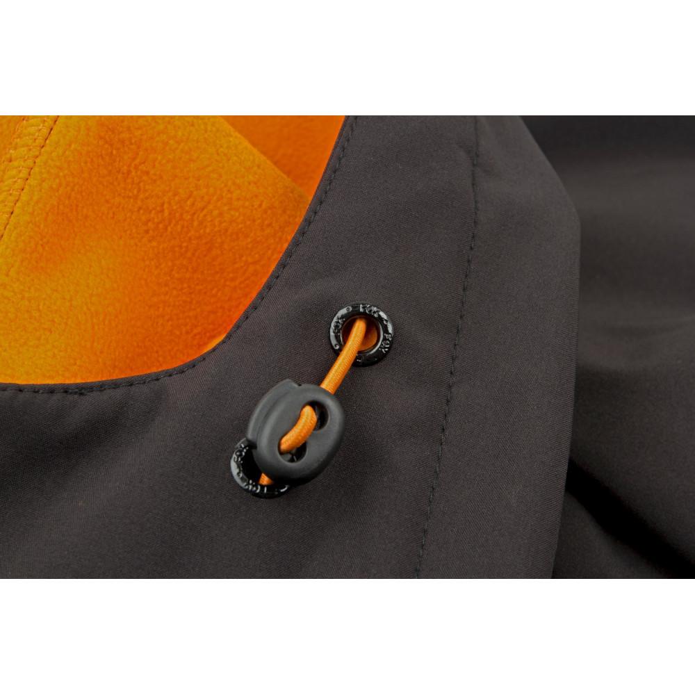 Zwart / oranje softshelljack - Vos 2