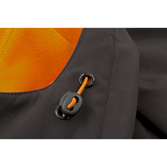 Black / Orange softshell Jacket -  Fox 2