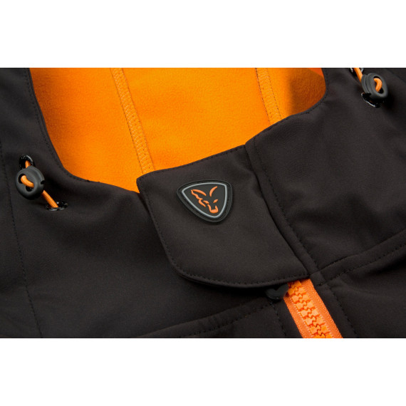 Zwart / oranje softshelljack - Vos 3