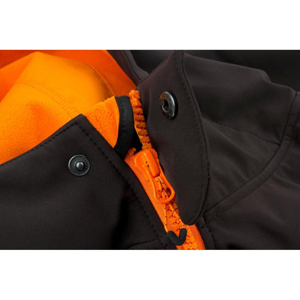 Zwart / oranje softshelljack - Vos 4