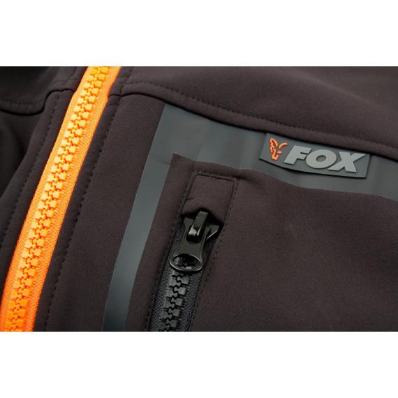 Zwart / oranje softshelljack - Vos 5