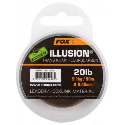 Fluorocarbone Illusion Leader Khaki 50m Fox