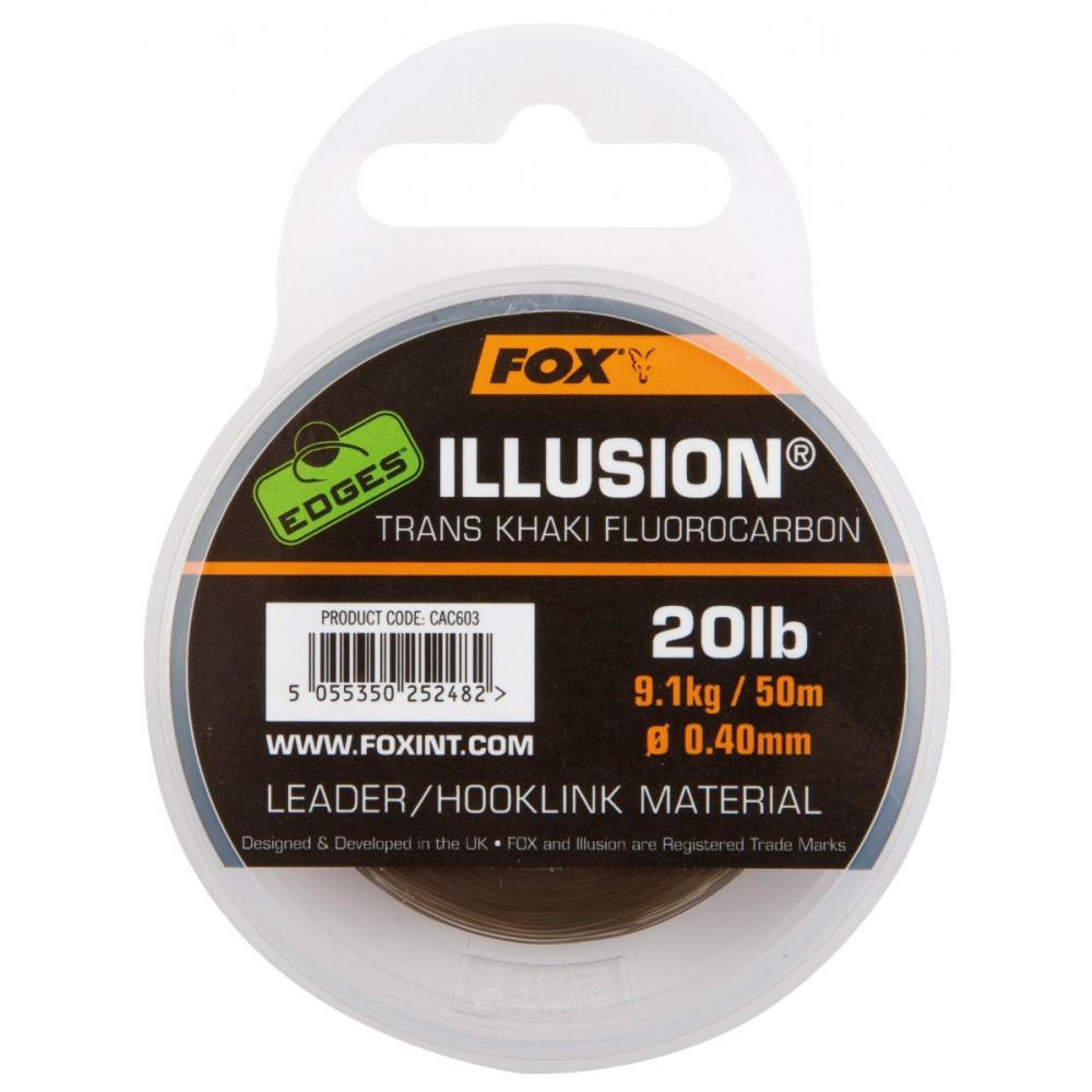 Fluorocarbon Illusion Leader Khaki 50m Fox 1