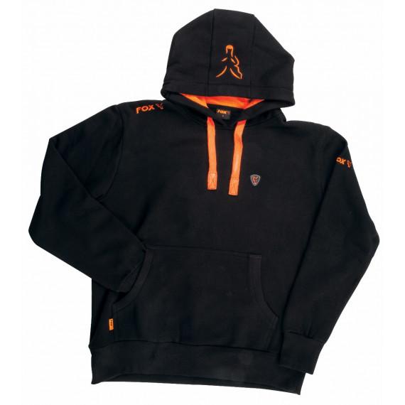Black / Orange  Hoodie  Fox