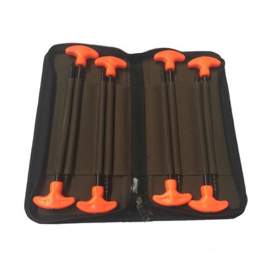 8 Orange sardines in Dk Tackle hard case