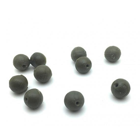 10 perles caoutchouc Olive Dk tackle