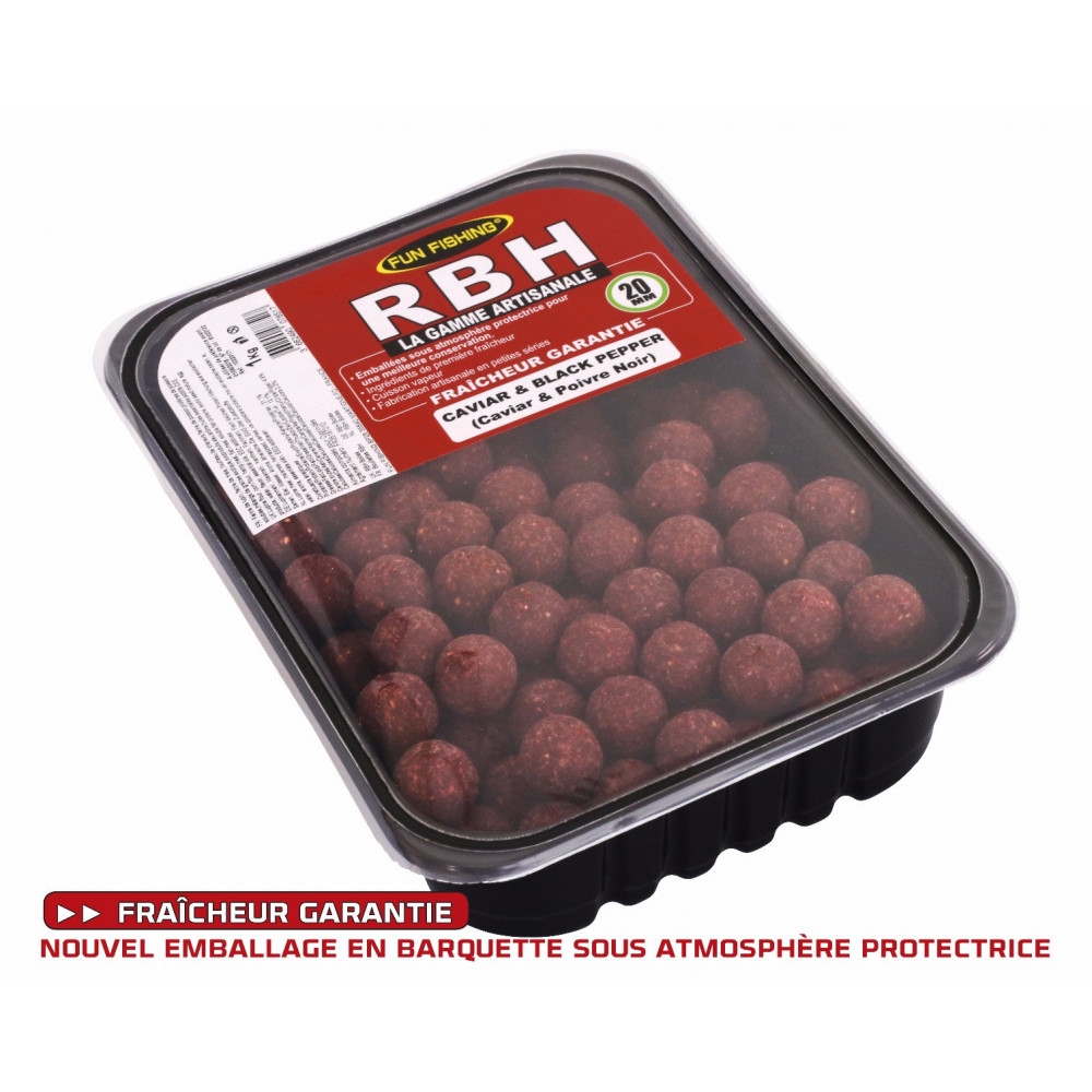 Rbh Boilies 1kg Caviar & Black pepper 2