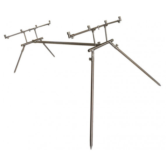Rod Pod 4 Euro stainless Dk tackle rods