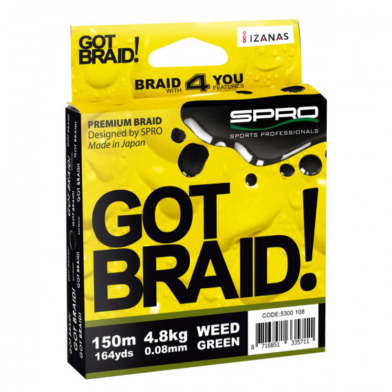 Tresse Got Braid Green 150m Spro